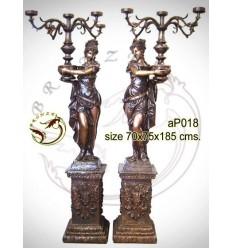 Lampadaire de jardin en bronze ap018-100