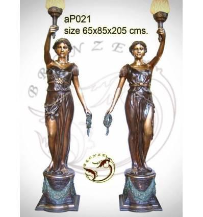 Lampadaire de jardin en bronze ap021-100