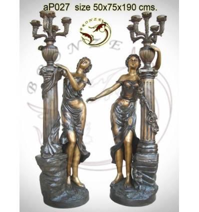 Lampadaire de jardin en bronze ap027-100