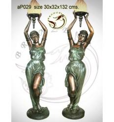 Lampadaire de jardin en bronze ap029-100