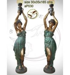 Lampadaire de jardin en bronze ap030-100