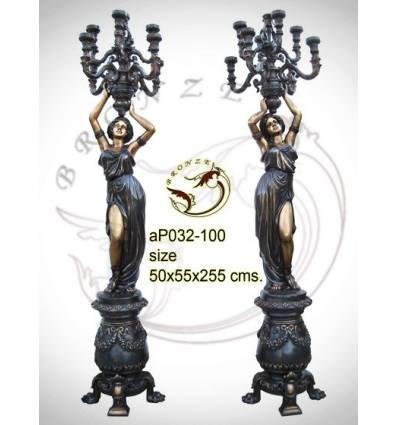 Lampadaire de jardin en bronze ap032-100