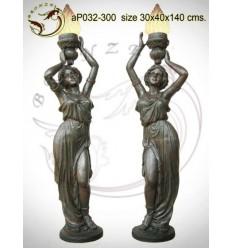 Lampadaire de jardin en bronze ap032-300