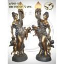 Lampadaire de jardin en bronze ap061-100