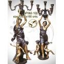 Lampadaire de jardin en bronze ap062-100
