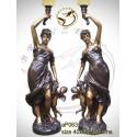 Lampadaire de jardin en bronze ap063-100