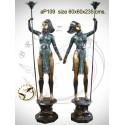 Lampadaire de jardin en bronze ap109-100