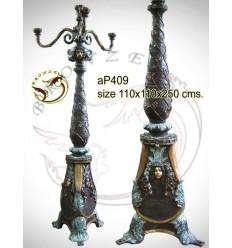 Lampadaire de jardin en bronze ap409-100