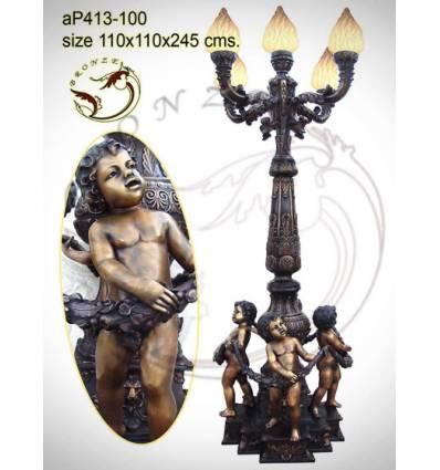 Lampadaire de jardin en bronze ap413-100