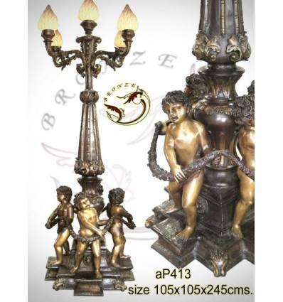 Lampadaire de jardin en bronze ap413-100x