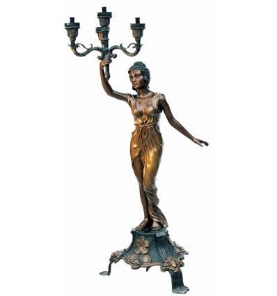 Lampadaire de jardin en bronze BRZ0310
