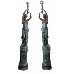 Lampadaire de jardin en bronze BRZ0503