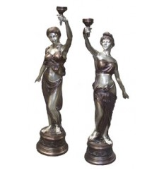 Lampadaire de jardin en bronze BRZ0858A