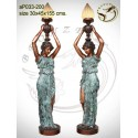Lampadaire de jardin en bronze ap033-200
