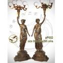 Lampadaire de jardin en bronze ap002-100