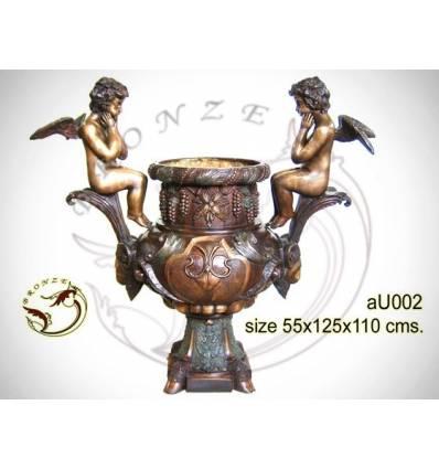 Vasque de jardin en bronze au002-100