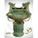 Vasque de jardin en bronze au004-100