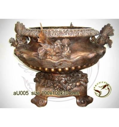 Vasque de jardin en bronze au005-100