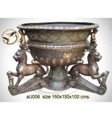 Vasque de jardin en bronze au006-100