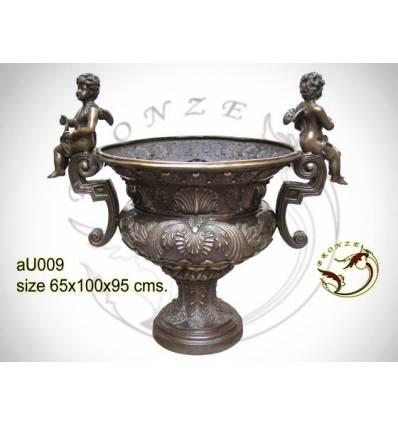 Vasque de jardin en bronze au009-100