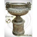 Vasque de jardin en bronze au101-100