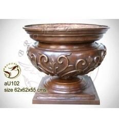 Vasque de jardin en bronze au102-100