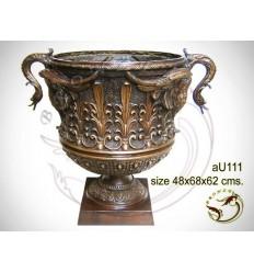 Vasque de jardin en bronze au111-100