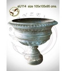 Vasque de jardin en bronze au114-100