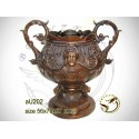 Vasque de jardin en bronze au202-100