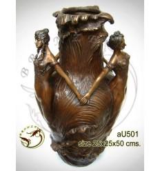 Vasque de jardin en bronze au501-100