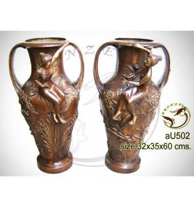 Vasque de jardin en bronze au502-100