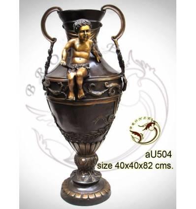 Vasque de jardin en bronze au504-100