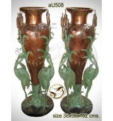 Vasque de jardin en bronze au508-100