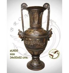 Vasque de jardin en bronze au605-100