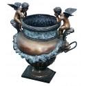 Vasque de jardin en bronze BRZ0135-S