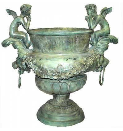 Vasque de jardin en bronze BRZ0135v