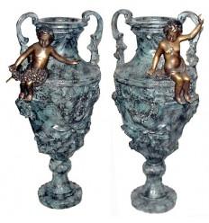 Vasque de jardin en bronze BRZ300v
