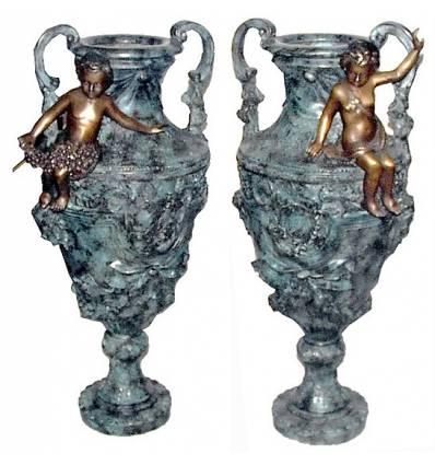 Vasque de jardin en bronze BRZ0300v