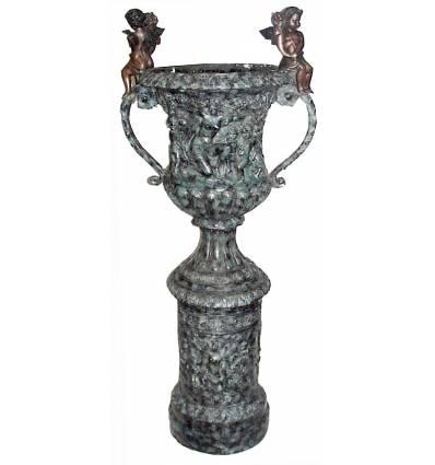Vasque de jardin en bronze BRZ0302V
