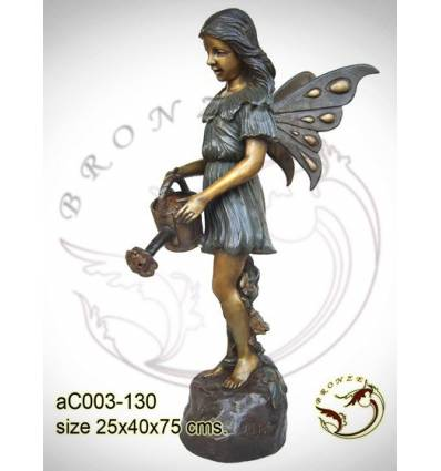 Sculpture bronze enfant ac003-130