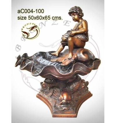 Sculpture bronze enfant ac004-100