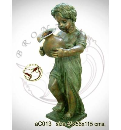 Sculpture bronze enfant ac013-100
