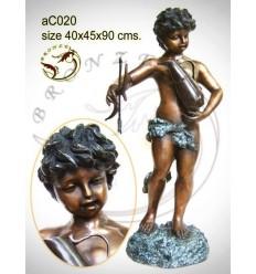 Sculpture bronze enfant ac020-100