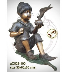 Sculpture bronze enfant ac023-100