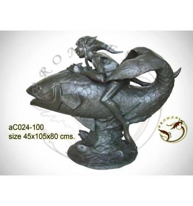 Sculpture bronze enfant ac024-100