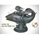 Sculpture bronze enfant ac024-100