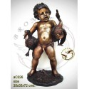 Sculpture bronze enfant ac026-100