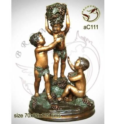Sculpture bronze enfant ac111-100