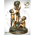 Sculpture bronze enfant ac111-100