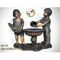 Sculpture bronze enfant ac114-100